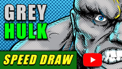 Grey Hulk speed draw