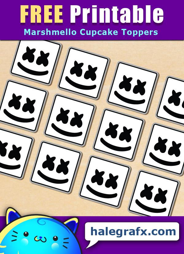 FREE Printable Marshmello Cupcake Toppers