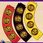 FREE Printable Cobra Kai Cupcake Wrappers
