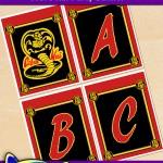 FREE Printable Cobra Kai Alphabet Banner Pack